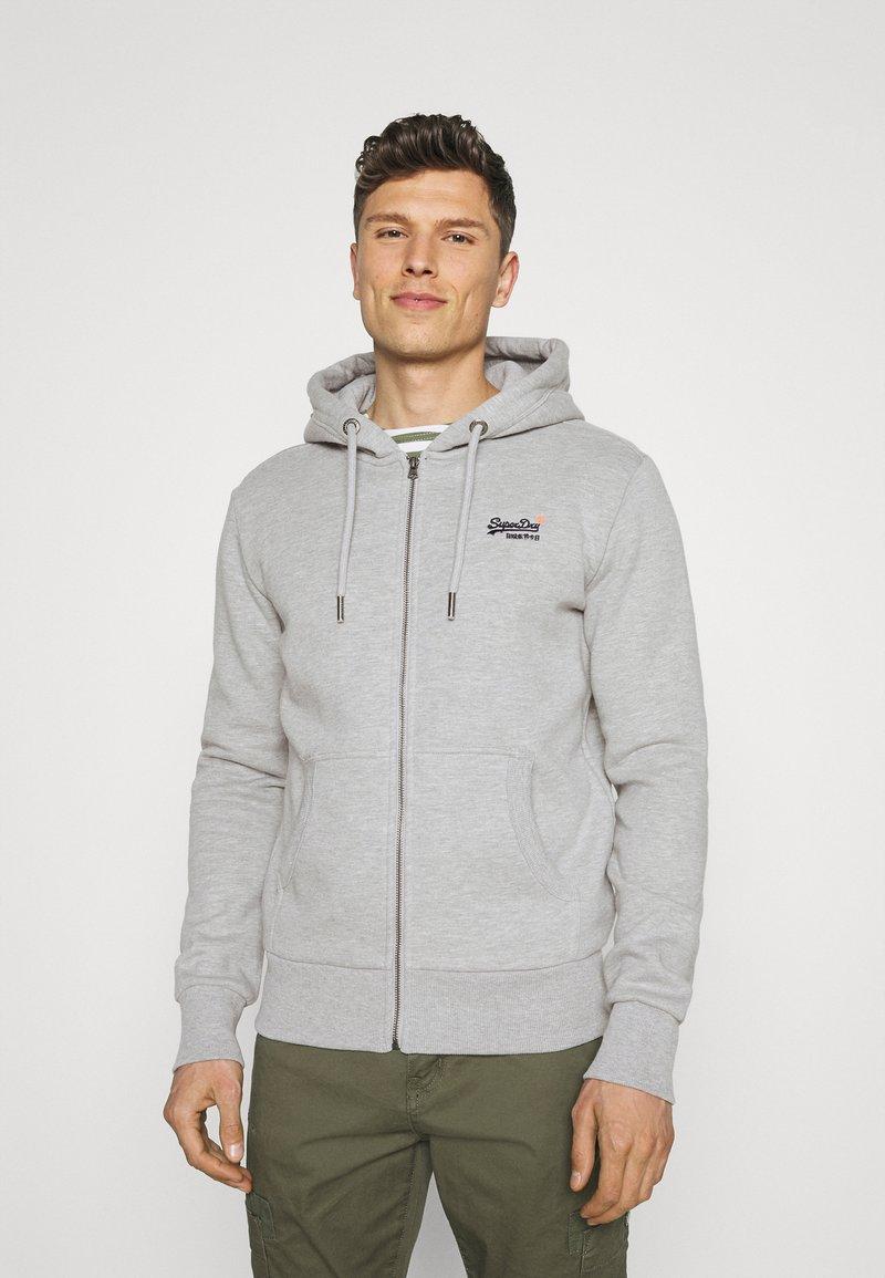 Superdry - CLASSIC ZIPHOOD - Zip-up hoodie - grey marl