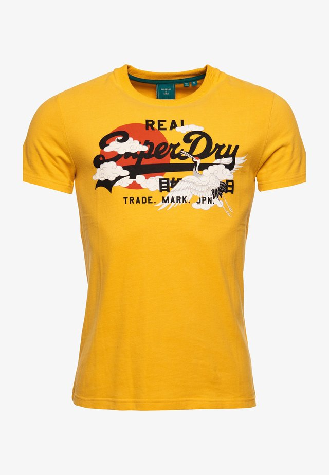 T-shirt imprimé - golden rod