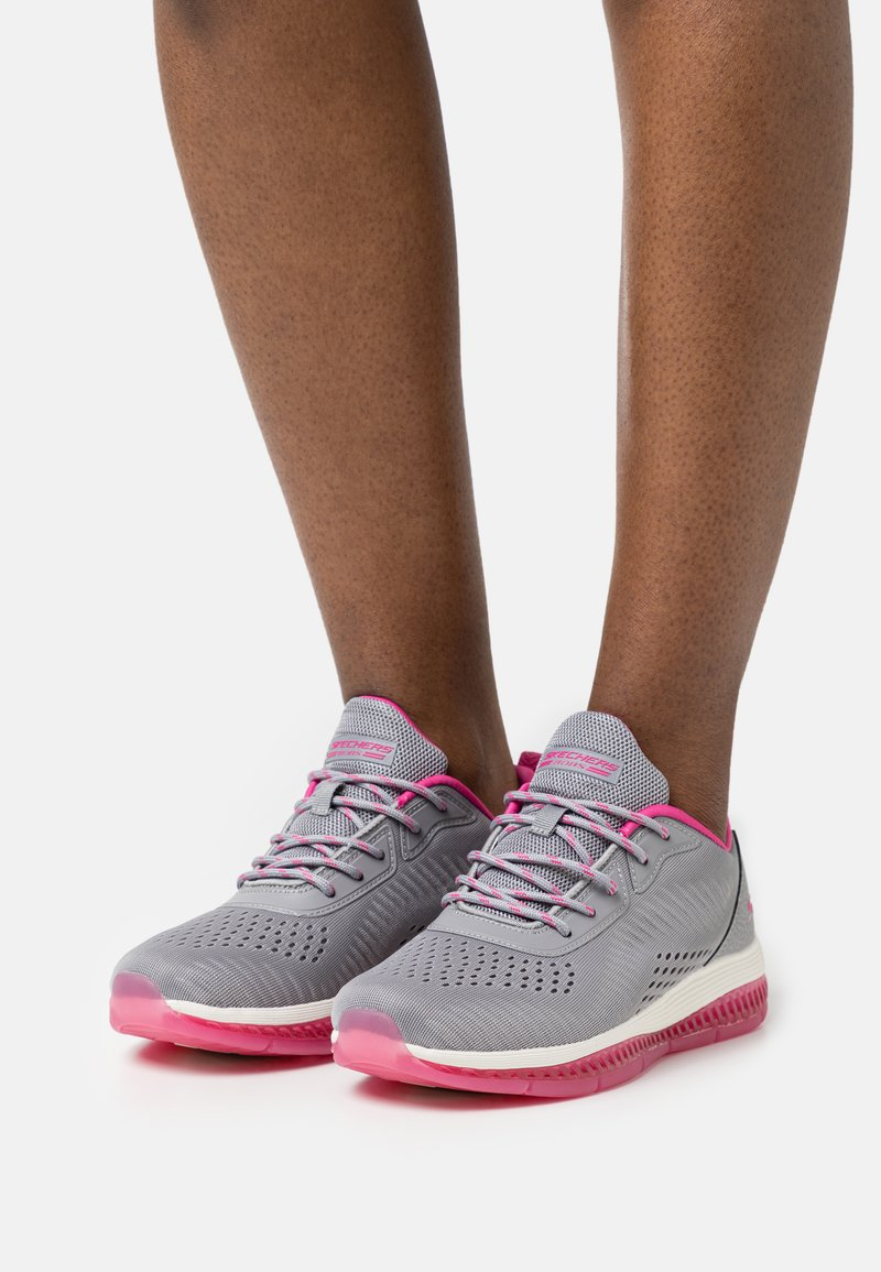 Skechers Sport - BOBS GAMMA - Joggesko - gray/pink