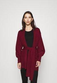 Vero Moda - VMTABAYA SHAWLNECK  - Cardigan - cabernet - 0