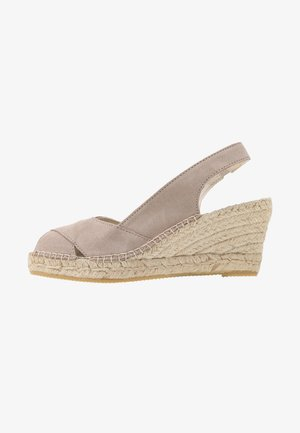 Platform sandals - piedra