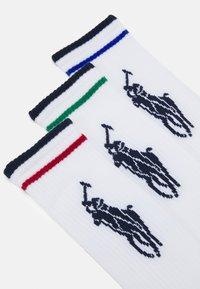 Polo Ralph Lauren - BLEND BIG TECH CREW 3 PACK - Socks - white/asso - 1