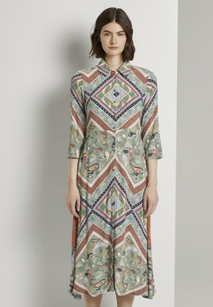 Shirt dress - patchwork paisley print