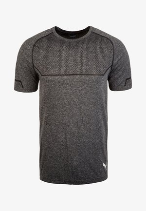ENERGY SEAMLESS - Basic T-shirt -  black heather