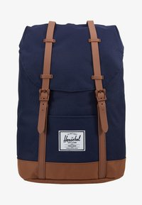 Herschel - RETREAT - Rucksack - peacoat/saddle brown - 6