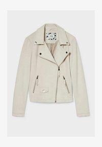 C&A - Faux leather jacket - creme - 4
