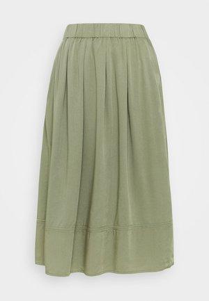 KIA MIDI - Áčková sukně - olive moss