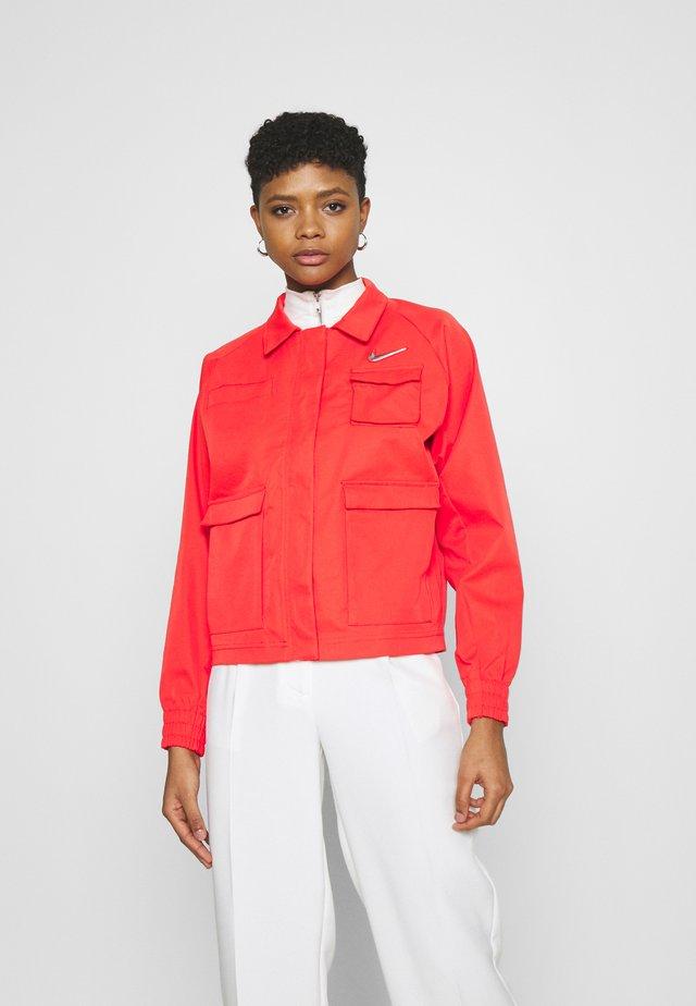 Summer jacket - light crimson