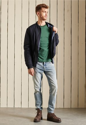 VINTAGE - Long sleeved top - heritage pine green/solid green