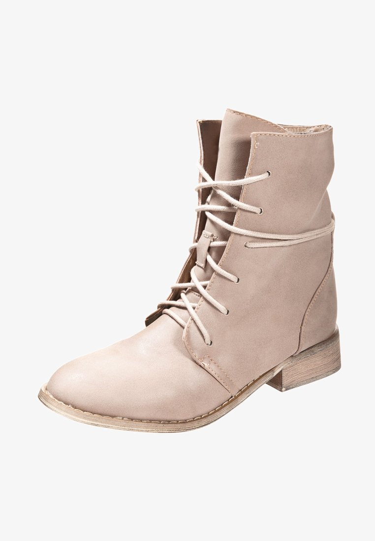 Even&Odd - Lace-up ankle boots - sand