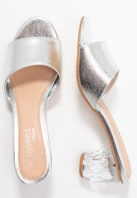 Head over Heels by Dune - MAZIE - Heeled mules - silver - 1