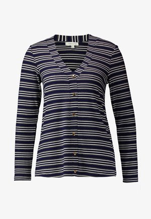 V-NECK STRIPED  - Svetr - marine blue