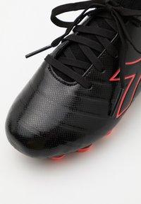 Diadora - BRASIL ELITE R LPU JR UNISEX - Moulded stud football boots - black/red fluo - 5