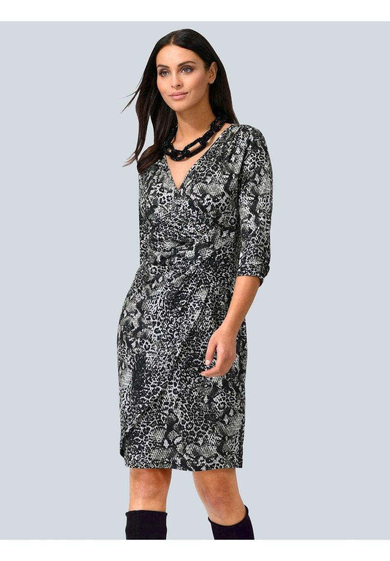Alba Moda - Jersey dress - grau,weiß