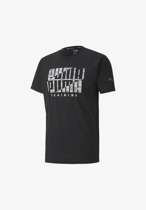 Print T-shirt - black-wht camo