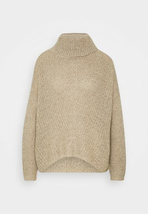 JDYNAGEEM MEGAN ROLLNECK  - Jumper - cement/black