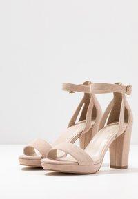 Anna Field - LEATHER HEELED SANDALS - Korolliset sandaalit - nude - 4