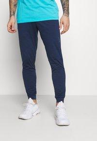 Nike Performance - PANT DRY YOGA - Pantalones deportivos - midnight navy/dark obsidian/gray - 0