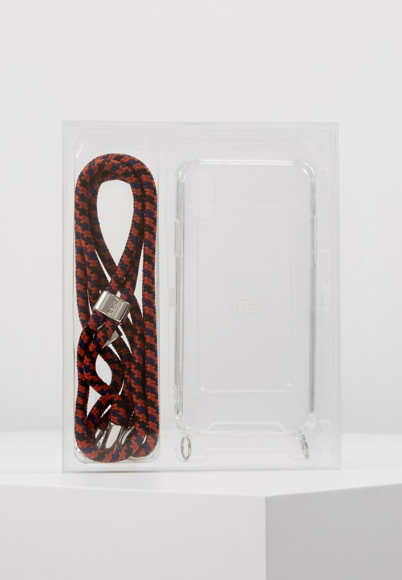 Jost - IPHONE X/XS CASE NECKLACE - Phone case - blue/red