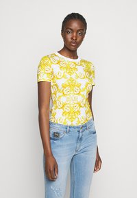 Versace Jeans Couture - LADY - T-shirt z nadrukiem - optical white - 0
