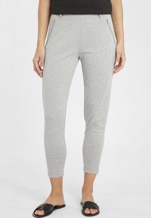 IHKATE ZIP PA - Trousers - grey melange