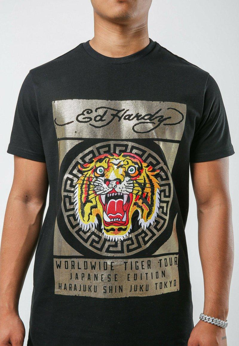 Ed Hardy - TILE-ROAR T-SHIRT - T-shirt print - black