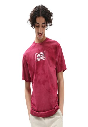 MN OFF THE WALL SPOT TIE DYE S/S - Print T-shirt - raspberry radiance
