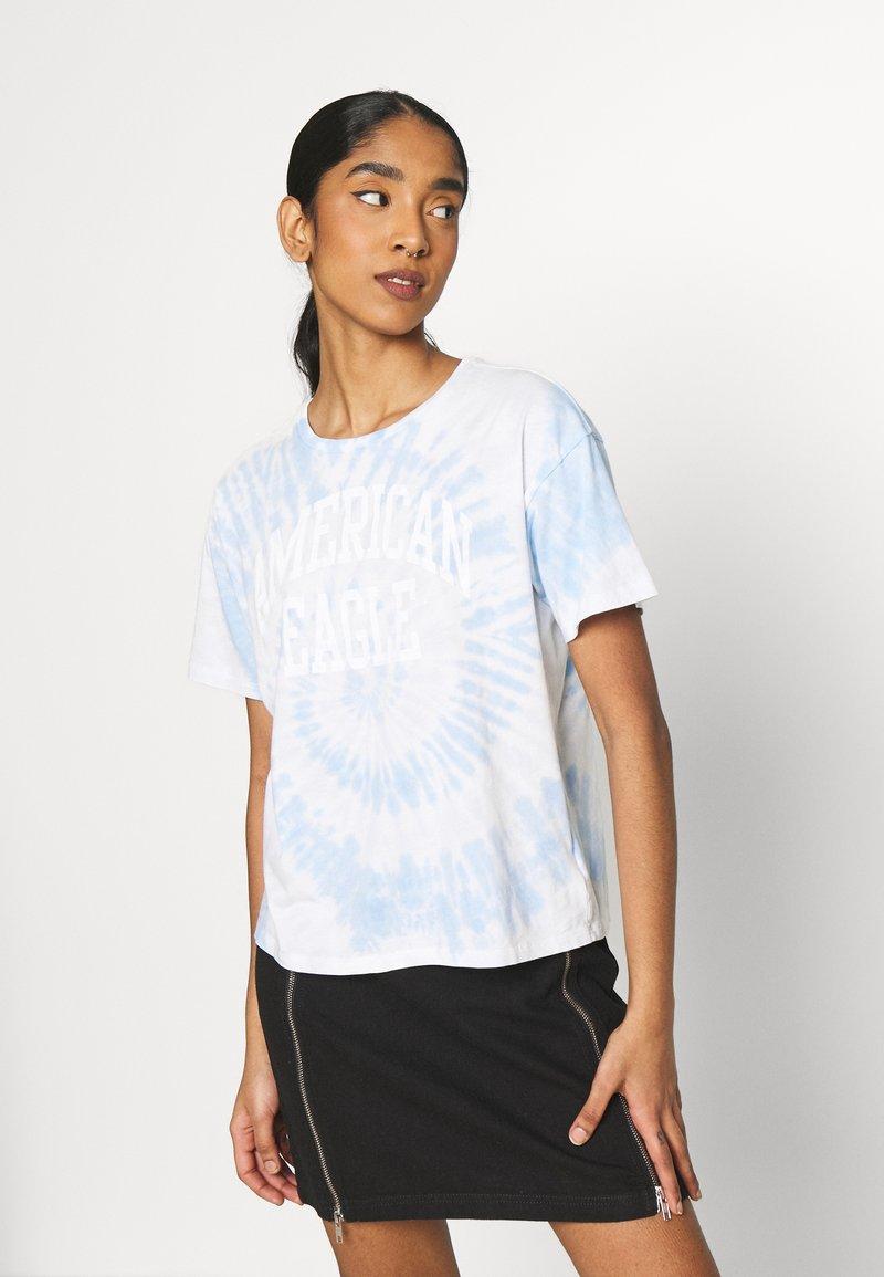 American Eagle - TIE DYE BRANDED  - Print T-shirt - blue
