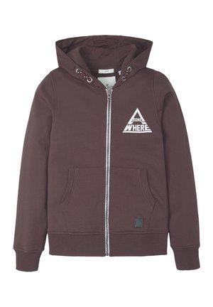veste en sweat zippée - fudge|brown