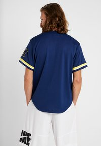 Mitchell & Ness - NCAA MICHIGAN BASEBALL - T-shirt imprimé - navy - 2