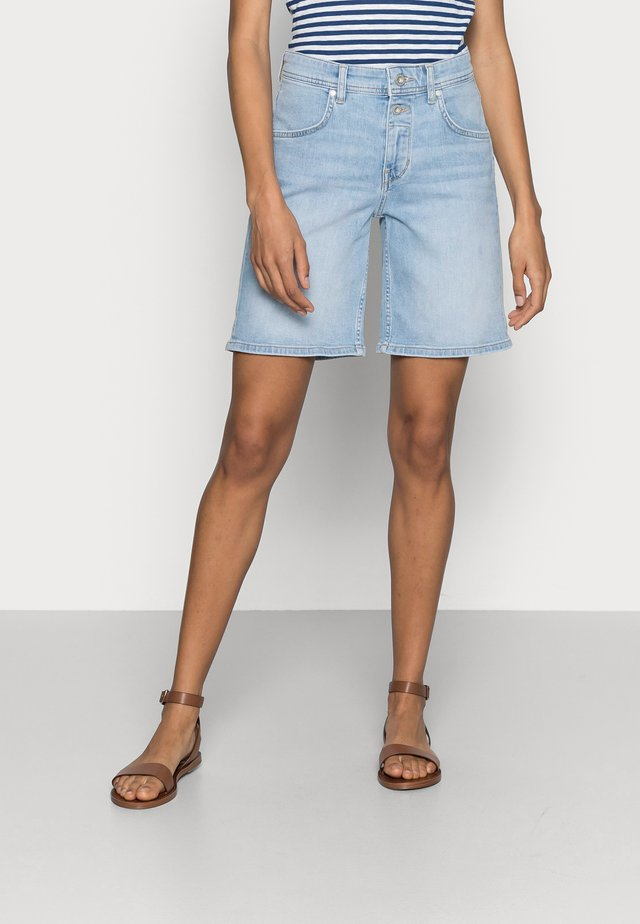 Denim shorts - commercial blue wash