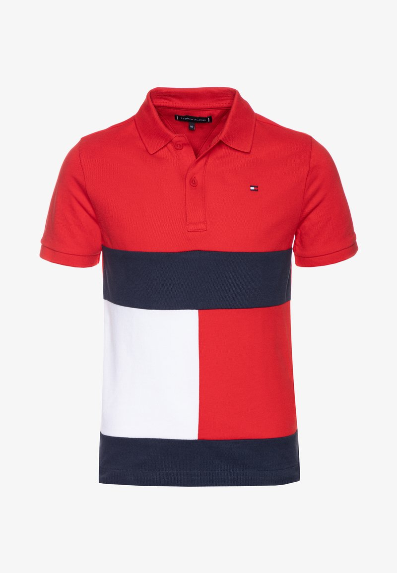 Tommy Hilfiger - COLORBLOCK FLAG - Polo shirt - red