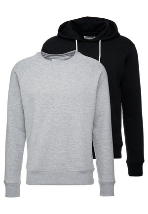 2 PACK - Sweatshirt - mottled grey/black