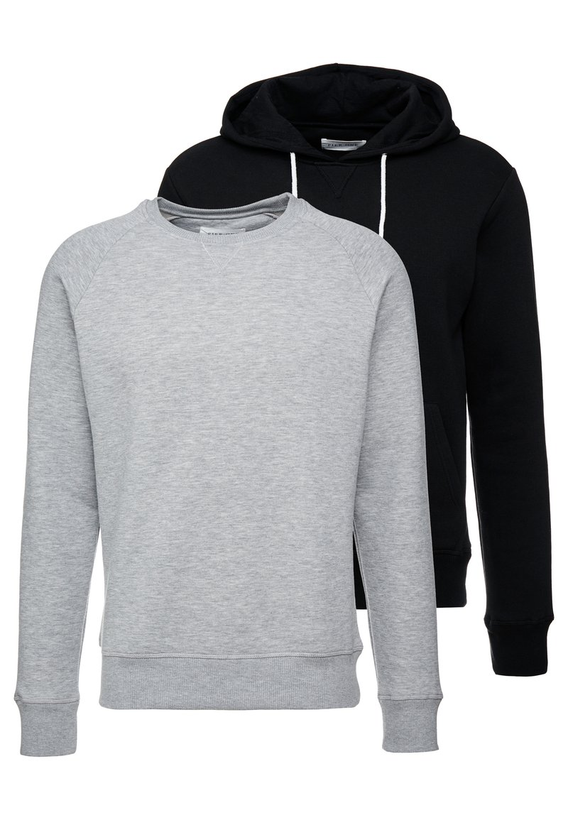Pier One - 2 PACK - Sweatshirts - mottled grey/black