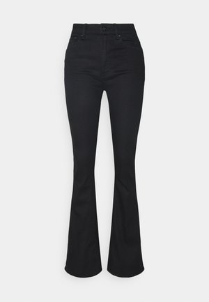 3301 HIGH FLARE - Flared Jeans - black metalloid cobler