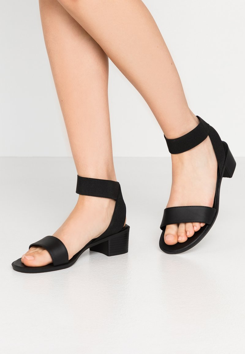 New Look Wide Fit - WIDE FIT POWER BLOCK HEEL - Sandaler - black