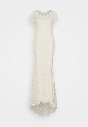 LONG DRESS SHORT SLEEVE - Abito da sera - ivory