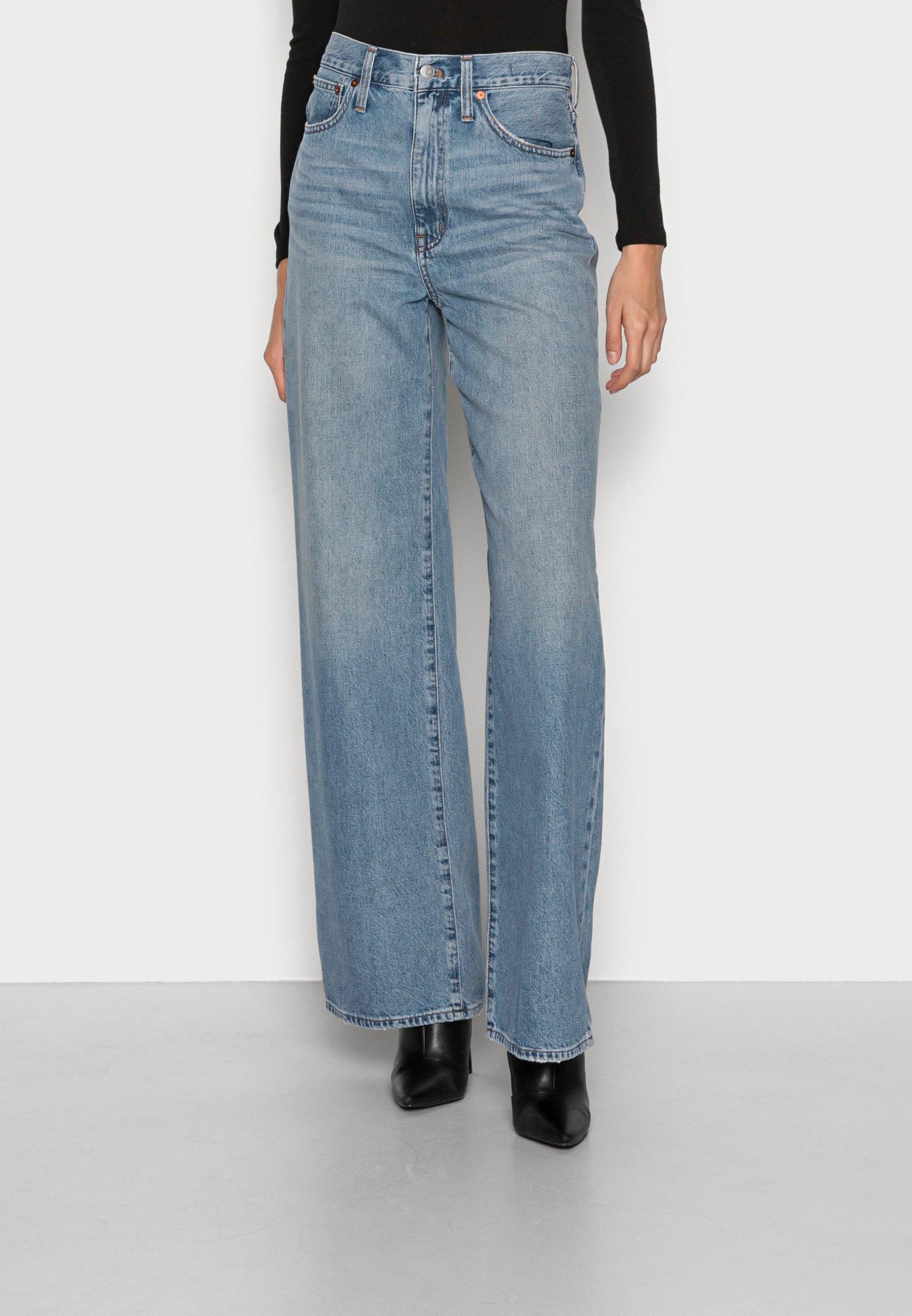 Damer SUPER WIDE LEG FULL LENGTH RIGID - Flared jeans