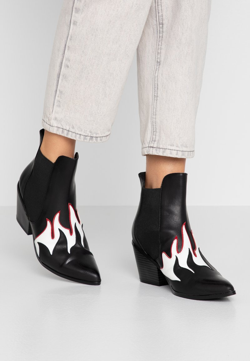 Vero Moda - VMJESS BOOT - Korte laarzen - black/white