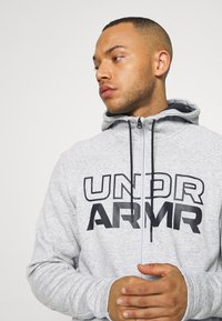 Under Armour - BASELINE FULL ZIP HOODIE - Hættetrøjer - mod gray full heather - 3