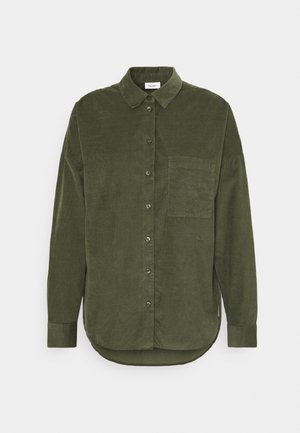 Button-down blouse - utility olive