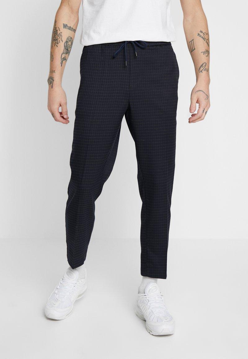 New Look - CROP GRID COX - Pantalones - navy