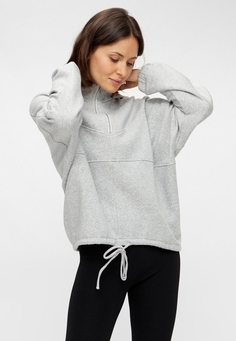 Pieces - Hoodie - light grey melange
