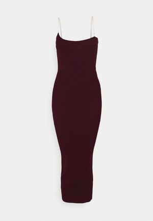PERSPEX MIDAXI DRESS - Etuikjole - plum