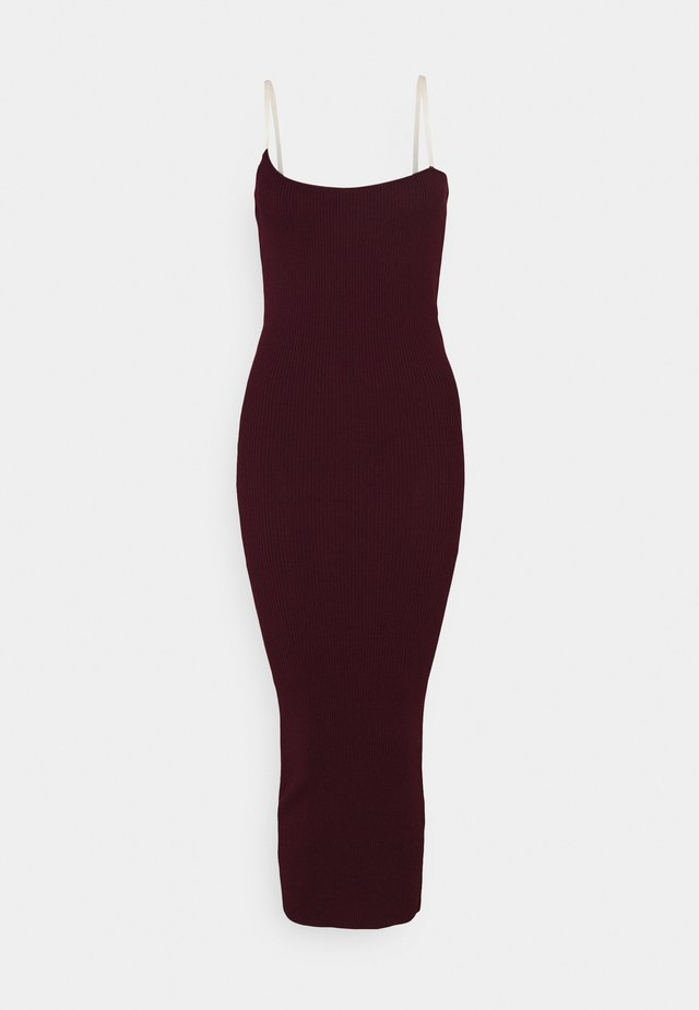 PERSPEX MIDAXI DRESS - Robe fourreau - plum