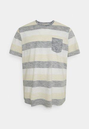 JJSTRIPE TEE CREW NECK - Print T-shirt - navy blazer