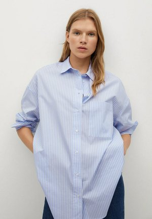 JAIDY - Button-down blouse - azul celeste