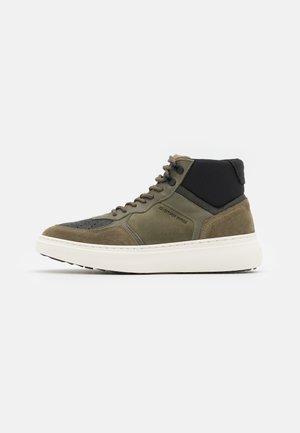 LASH MID - High-top trainers - dark grey/olive