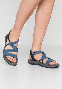 Skechers - REGGAE SLIM - Walking sandals - navy - 0