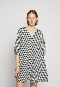 Bruuns Bazaar - SEER ALLURE DRESS - Day dress - black/white - 0
